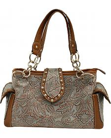 Blazin Roxx Floral Embossed Satchel Bag