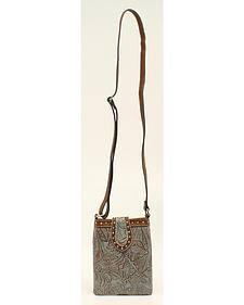 Blazin Roxx Floral Embossed Crossbody Bag