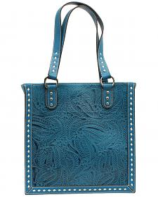 Blazin Roxx Floral Tooled Tote Bag