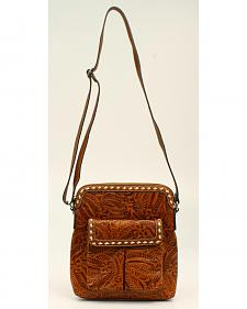 Blazin Roxx Floral Tooled Crossbody Bag