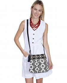 Scully Cantina Collection Black and White Geometric Aztec Crossbody