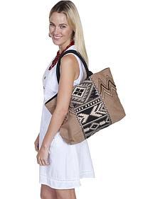 Scully Cantina Collection Taupe Cotton Canvas Handbag