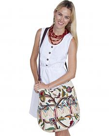 Scully Cantina Collection Multi Colored Embroidered Handbag