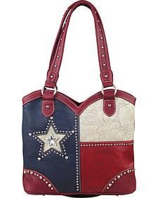 Montana West Texas Pride Boot Top Studded Strap Handbag