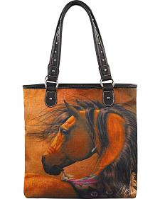 Montana West Laurie Prindle Collection Horse Art Tote