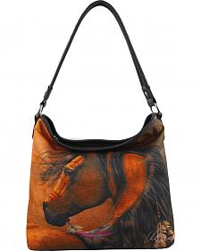 Montana West Horse Large Single Handle Tote Bag