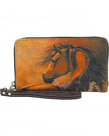 Montana West Horse Wallet Featuring Artwork by Laurie Prindle