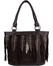 Montana West Western Fringe Collection Large Tote