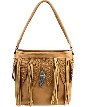 Montana West Western Fringe Collection Shoulder Bag