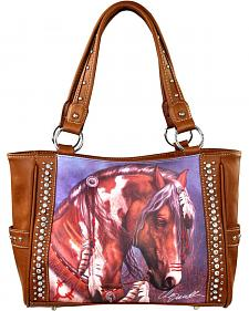 Montana West Laurie Prindle Collection Painted Pony Concealed Carry Handbag