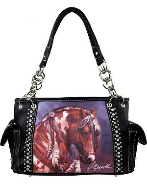 Montana West Laurie Prindle Collection Painted Pony Concealed Handgun Handbag