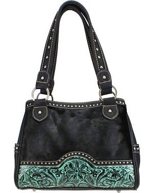 Montana West Trinity Ranch Embossed Shoulder Bag