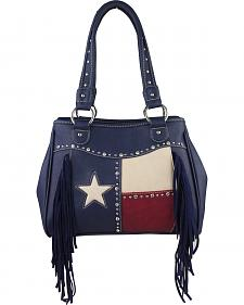Montana West Women's Texas Star Concealed Carry Fringe Tote