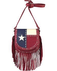 Montana West Women's Texas Star with Fringe Handbag