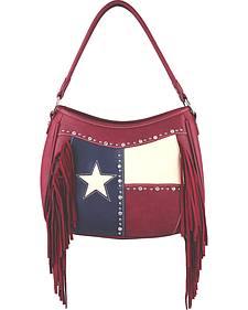 Montana West Women's Texas Star Concealed Carry Fringe Shoulder Handbag