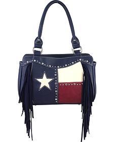 Montana West Women's Texas Star with Fringe Croessbody Handbag
