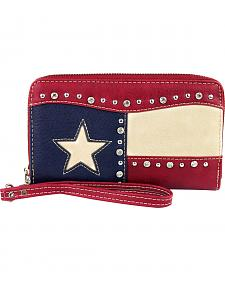 Montana West Texas Pride Collection Leather Studded Wallet