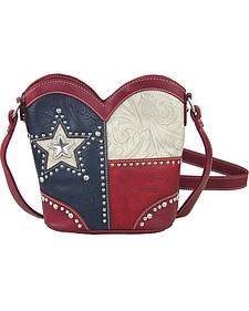 Montana West Women's Texas Boot Top Crossbody Handbag