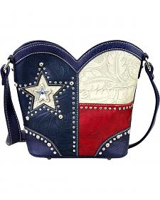 Montana West Women's Texas Boot Top Crossbody Handbag