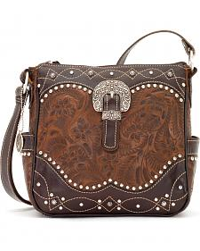 """American West Annie's Secret Collection """"Secret Compartment"""" Crossbody Bag"""