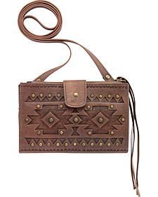 American West Chippewa Foldover Crossbody Wallet Bag