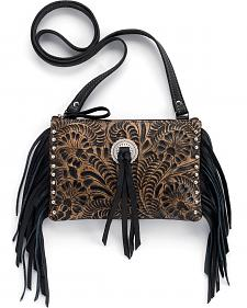 American West Honky Tonk Collection Fringe Crossbody Bag