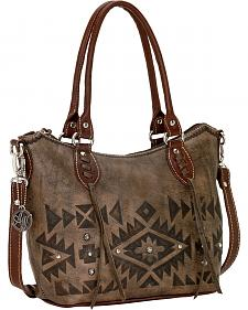 American West Mystic Shadow Convertible Zip Top Bucket Tote