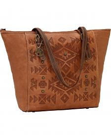 American West Mystic Shadow Zip Top Bucket Tote Bag