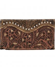 American West Rosewood Collection Tri-Fold Wallet
