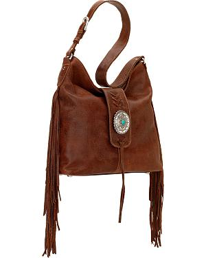 American West Seminole Collection Soft Shoulder Hobo Bag