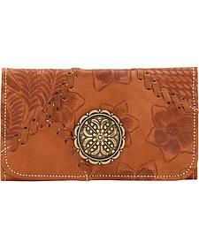 American West Soho Groove Tri-Fold Wallet