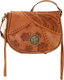 American West Soho Groove Saddle Flap Crossbody Bag