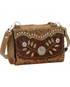 American West Woodland Bloom Small Crossbody Wallet