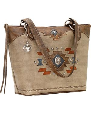 American West Zuni Passage Zip-Top Bucket Tote Bag