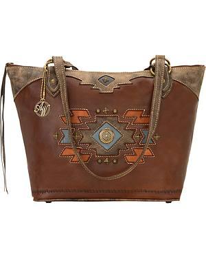 American West Zuni Passage Zip-Top Bucket Tote Bag