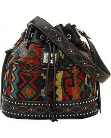 Bandana by American West Black Canyon Drawstring Bucket Bag
