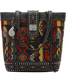 Bandana by American West Black Canyon Zip Top Tote