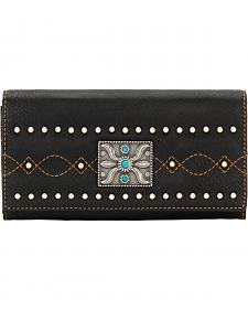 Bandana by American West Black Canyon Flap Wallet