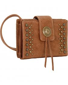 Bandana by American West Game Girl Organized Concho and Stud Crossbody Bag