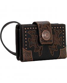 Bandana by American West Game Girl Organized Embossed Cut-Out Crossbody