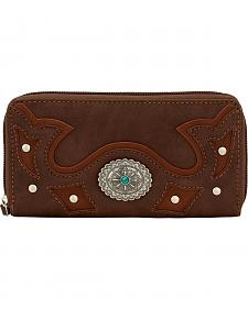 Bandana by American West Lexington Zip Around Wallet