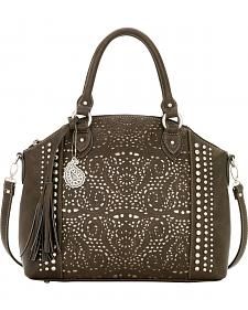 American West Bandana Mesa Collection Convertible Zip Top Tote