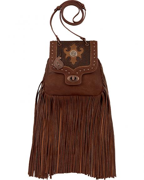 Bandana by American West Winslow Collection Fringe Crossbody Flap Bag