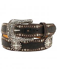 Ariat Women's Faux Gator Concho Belt