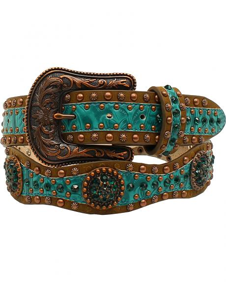 Ariat Scallop Floral Embossed Concho Belt