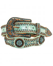 Nocona Women's Scallop Round Concho Studded Belt