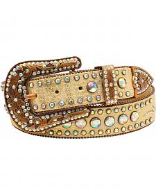Nocona Women's Scroll Round Concho Belt