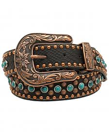 Nocona Women's Copper Nailhead Turquoise Belt