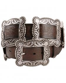 Nocona Sliding Conchos Leather Hip Belt