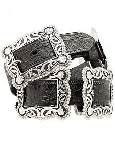 Nocona Sliding Conchos Leather Hip Belt